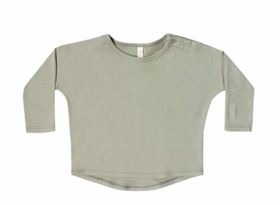 Quincy Mae baby long sleeve tee sage
