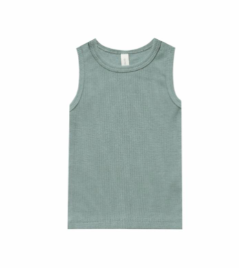 Quincy Mae ribbed tank sea