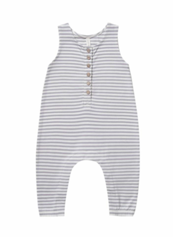 Quincy Mae Sleeveless jumpsuit in grey stripes