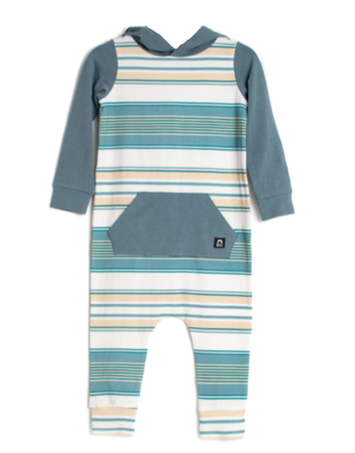 Rags soybean and marshmallow stripe romper