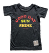 Retro Brand - Good Day Sunshine Tee in Vintage Black