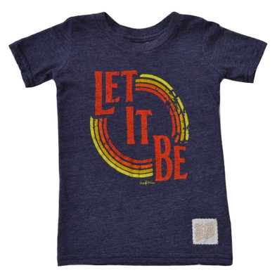 Let It Be Kids tee in heather navy