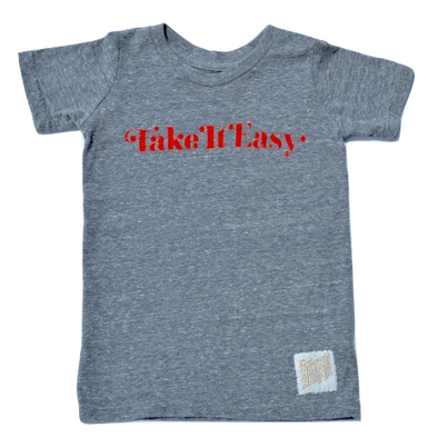 Retro Brand - Take It Easy Tee in Heather Grey (Size 4)