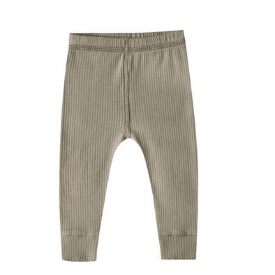 Quincy Mae - Organic Ribbed Legging in Olive (Size 0-3mo and 3-6mo)