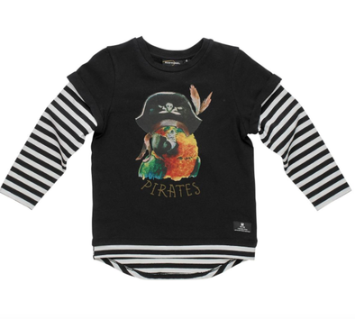 Rock Your Kid Pirate Parrot long sleeve