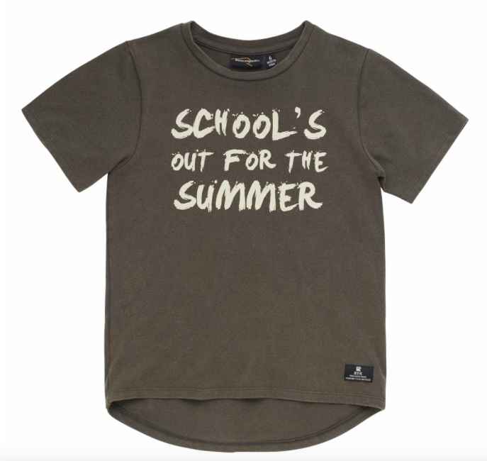 Rock Your Baby - School's Out for Summer Tee in Washed Black