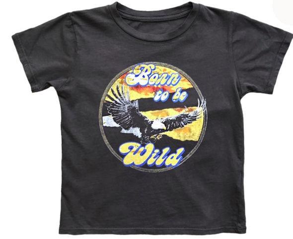 Rowdy Sprout Born to be Wild Tee in Off Black