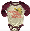 Rowdy Sprout - Don't Let Your Babies Grow Up to Be Cowboys Raglan in Cream and Port