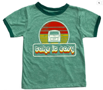 Rowdy Sprout Kids Eagles Take It Easy tee in green