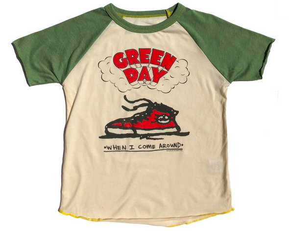 Rowdy Sprout - Boys Green Day Short Sleeve Raglan Tee in Green