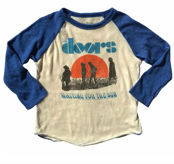 Rowdy Sprout The Doors kids raglan blue