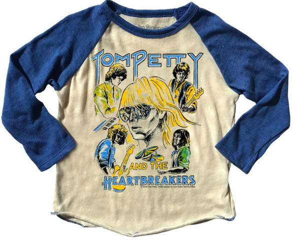 Rowdy Sprout Kids Tom Petty raglan