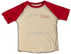 Rowdy Sprout - Boys America Short Sleeve Raglan in Red and Cream