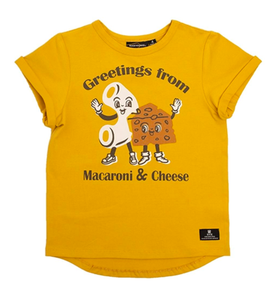 Rock Your Kid Greetings from Macaroni and Cheese shirt