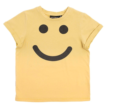 Rock Your Kid - Be Happy Tee in Dip Dye Yellow (Size 12-18mo)