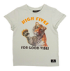 Rock Your Kid - High Fives and Good Vibes Tee in Light Green