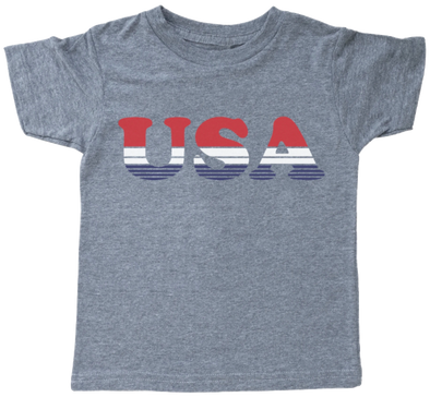 Tiny Whales - USA Tee in Tri-Grey