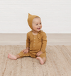 Quincy Mae - Organic Baby Ribbed Jumpsuit in Ocre