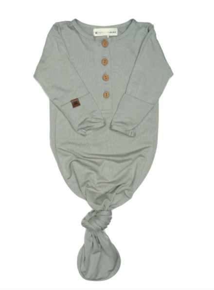 Papillon Bebe - Knotted Gown in Sage