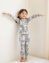Kids Tie Dye Pajamas in Grey