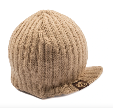 Knuckleheads - Knit Visor Beanie in Camel