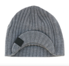 Knuckleheads - Knit Visor Beanie in Grey