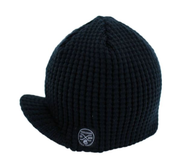 Knuckleheads - Pebbled Visor Beanie in Navy