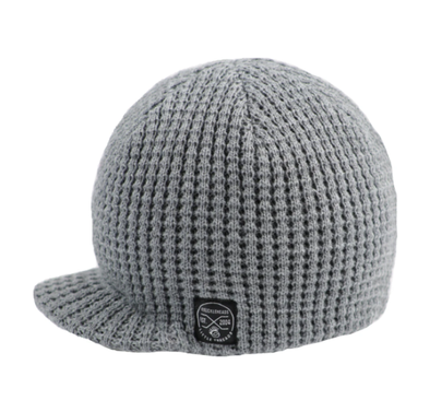 Knuckleheads - Pebbled Visor Beanie in Grey