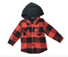 Little Bipsy - Hooded Flannel in Red and Black Plaid