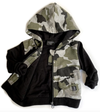 Little Bipsy - Zip Hoodie in Black and Camo