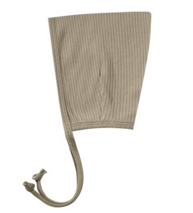 Quincy Mae ribbed pixie bonnet olive