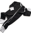 Little Bipsy - Two-Way Zip Romper in Black + Grey