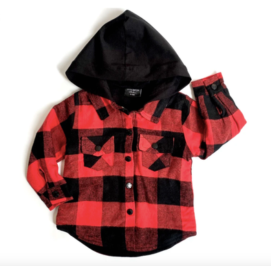 Little Bipsy hooded flannel