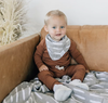 Mebie Baby - Organic Cotton Ribbed Two-piece Set in Rust