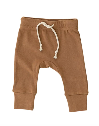 Mebie Baby cotton joggers in honey