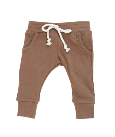 Mebie Baby French Terrry jogger camel