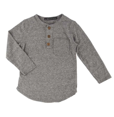Boys heather grey henley