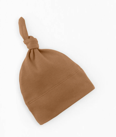 Colored Organics - Newborn Top Knot Hat in Ginger