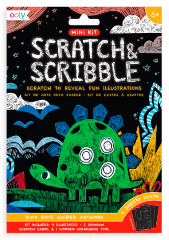 Ooly - Mini Scratch & Scribble Kit Dino Days