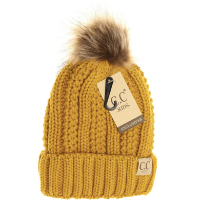 kids mustard winter hat