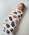 Little Homie basketball muslin blanket