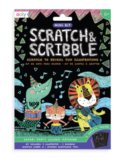 Ooly - Mini Scratch & Scribble Kit Safari Party