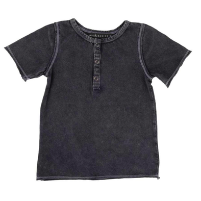 Miki Miette - Boys Pauli Short Sleeve Henley in Night