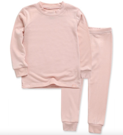 Girls plain pink pajamas
