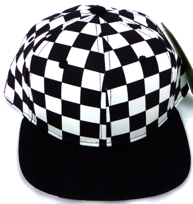 Baby and Children's SnapBack Hat in Checkers w/ Black Bill