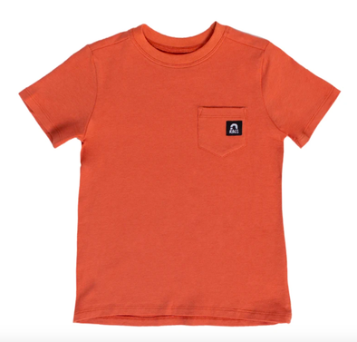 Rags - Short Sleeve Chest Pocket Tee in Apricot