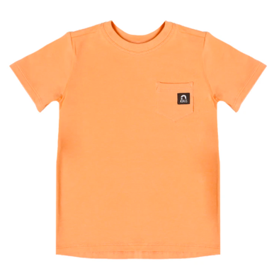 Rags - Short Sleeve Chest Pocket Tee in Coral Reef
