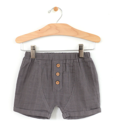 City Mouse - Muslin Boy Shorts in Steel