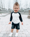 Little Bipsy - Baseball Tee in Black/White
