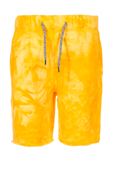 Boys yellow tie dye shorts